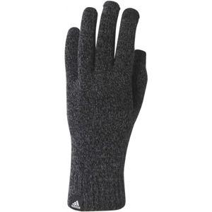 adidas KNITTED GLOVES CONDUCTIVE černá M - Zimní rukavice