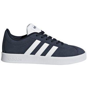 adidas VL COURT 2.0 K tmavě modrá 35 - Dětská volnočasová obuv