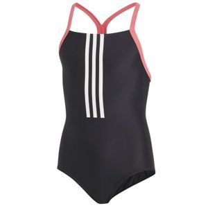 adidas BTS 3S 1PC černá 116 - Dívčí plavky