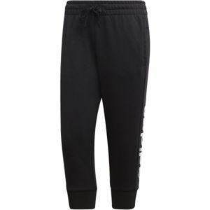adidas E LIN 3/4 PT černá S - Dámské tříčtvrteční kalhoty