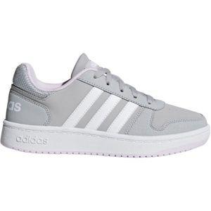 adidas HOOPS 2.0 K šedá 5 - Dětské volnočasové boty