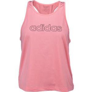 adidas W TRFC TANK světle růžová L - Dámské tílko