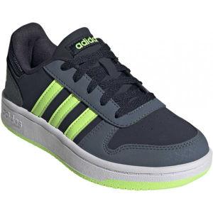 adidas HOOPS 2.0 K zelená 5.5 - Dětské volnočasové tenisky