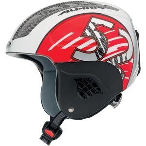 Alpina Sports CARAT červená (51 - 55) - Dětská lyžařská helma