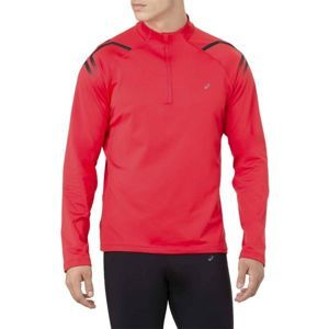 Asics ICON WINTER LS 1/2 ZIP TOP červená XL - Pánské sportovní triko