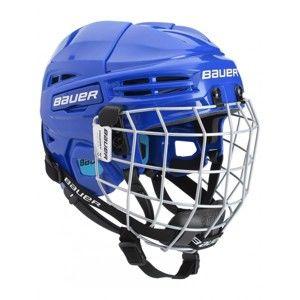 Bauer PRODIGY COMBO YTH modrá 48-53,5 - Dětská helma s mřížkou