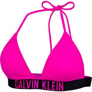Calvin Klein FIXED TRIANGLE-RP růžová XL - Dámský vrchní díl plavek