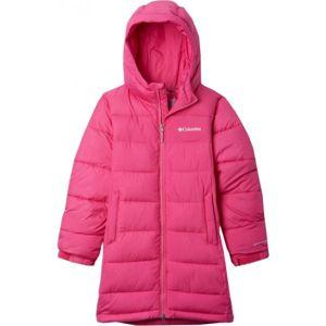 Columbia PIKE LAKE LONG JACKET růžová S - Dívčí zimní bunda