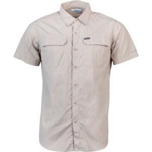 Columbia SILVER RIDGE 2.0 SHORT SLEEVE SHIRT béžová XXL - Pánská košile