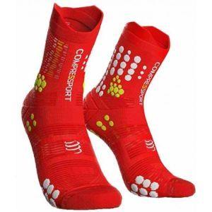 Compressport RACE V3.0 TRAIL červená T3 - Běžecké ponožky