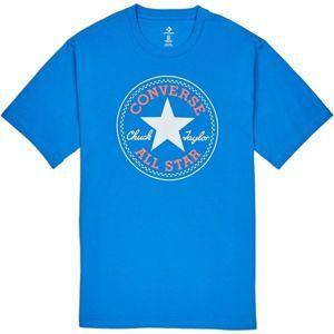 Converse CHUCK PATCH TEE modrá L - Pánské triko