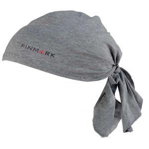 Finmark FS-019 šedá UNI - Funkční trojcípý šátek