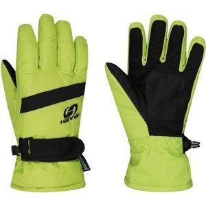 Hannah LEDDA zelená 11-12 - Dětské lyžařské rukavice