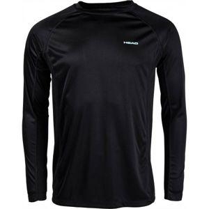 Head VARGAS černá L - Pánské triko s dlouhým rukávem