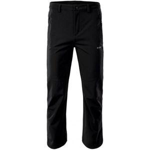 Hi-Tec MONTIN černá XXXL - Pánské softshellové kalhoty