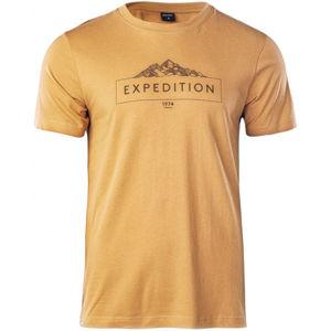 Hi-Tec RENON hnědá XXL - Pánské tričko