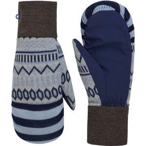 KARI TRAA AKLE MITTEN modrá 7 - Dámské vlněné rukavice