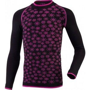 Klimatex ABBIE černá 110-122 - Dívčí funkční bezešvé termo triko