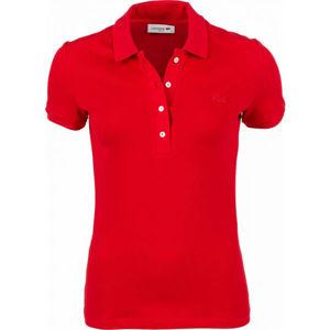Lacoste SHORT SLEEVE POLO červená XS - Dámské polo tričko