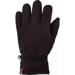 Lewro ARIC černá 4-7 - Dětské fleecové rukavice