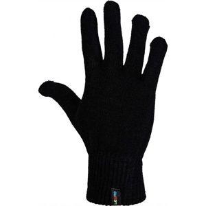 Lewro NEELAM černá 4-7 - Dětské pletené rukavice
