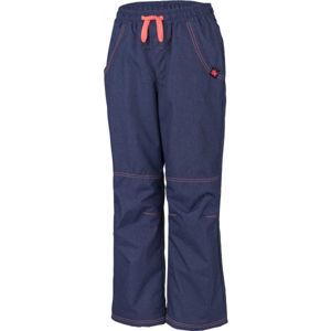 Lewro SIGI oranžová 116-122 - Dětské zateplené kalhoty