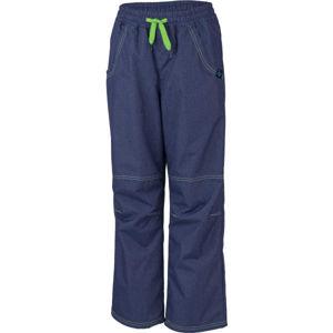 Lewro SIGI zelená 140-146 - Dětské zateplené kalhoty