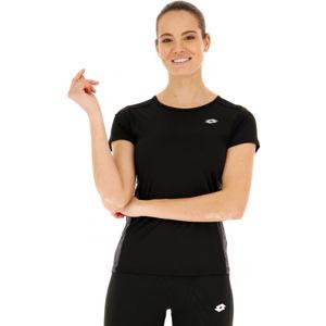 Lotto SPEEDRUN W II TEE PRT PL černá XS - Dámské sportovní tričko