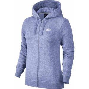 Nike HOODIE FZ FLC W modrá L - Dámská mikina s kapucí