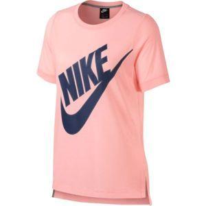 Nike NSW TOP SS PREP FUTURA růžová L - Dámské triko