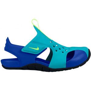 Nike SUNRAY PROTECT 2 PS zelená 1Y - Dětské sandály
