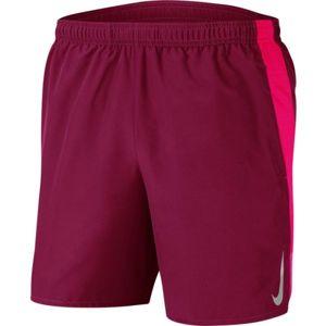 Nike CHLLGR SHORT 7IN BF M červená M - Pánské běžecké kraťasy
