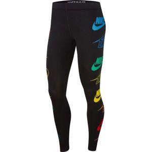 Nike NSW LEGASEE LGGNG FLIP modrá S - Dámské legíny