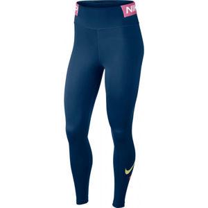 Nike ONE TGHT ICNCLSH W modrá XS - Dámské legíny