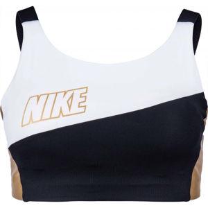 Nike SWOOSH MTLC LOGO BRA PAD  S - Dámská sportovní podprsenka
