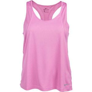 Nike RUN TANK W růžová L - Dámské běžecké tílko