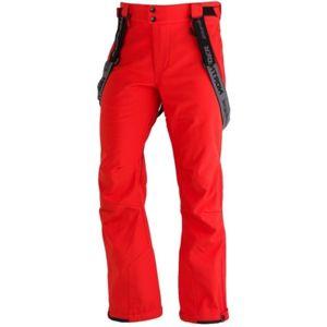 Northfinder LUX červená XXL - Pánské softshelllové kalhoty na lyže