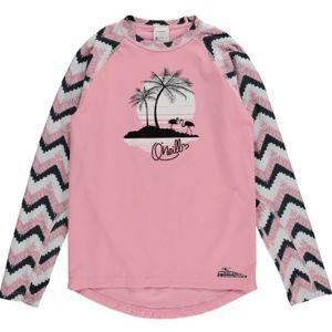 O'Neill PG HORIZON PALM L/SLV SKIN růžová 10 - Dívčí surf tričko