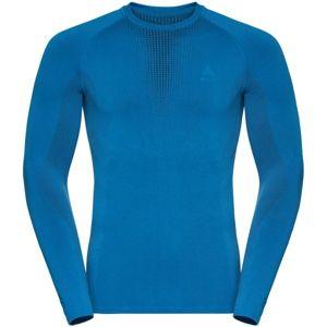 Odlo BL TOP CREW NECK L/S PERFORMANCE WARM modrá M - Pánské tričko