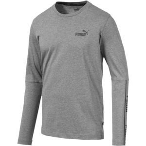 Puma AMPLIFIED LS TEE šedá S - Pánské triko