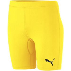 Puma LIGA BASELAYER SHORT TIGH JR žlutá 152 - Dětské sportovní šortky