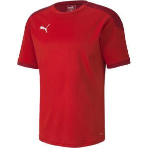 Puma TEAM FINAL 21 TRAINING JERSEY červená M - Pánské tréninkové triko