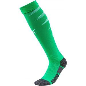 Puma TEAM FINAL SOCKS světle zelená 1 - Pánské fotbalové štulpny