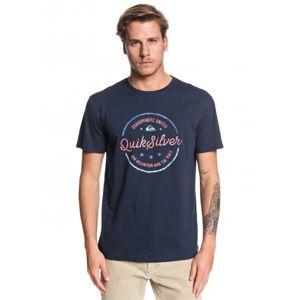 Quiksilver MENTAL NOTES SS tmavě modrá L - Pánské tričko