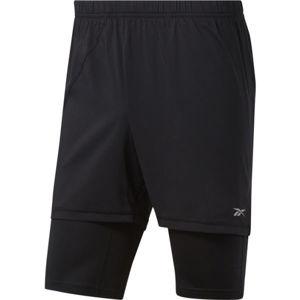 Reebok RE  2-1  SHORT černá L - Pánské běžecké šortky
