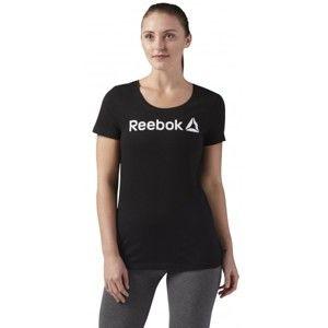 Reebok REEBOK LINEAR READ SCOOP NECK černá XL - Dámské sportovní tričko