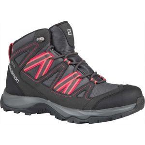 Salomon LEIGHTON MID GTX W tmavě šedá 4.5 - Dámská hikingová obuv
