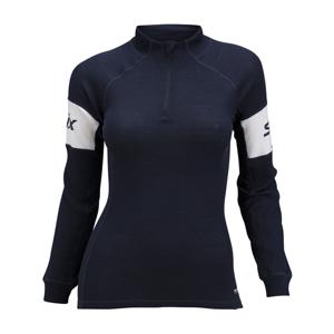 Swix RACEX WARM tmavě modrá M - Funkční sportovní triko