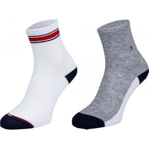 Tommy Hilfiger WOMEN SHORT SOCK 2P TRANSLUCENT bílá 35-38 - Dámské ponožky