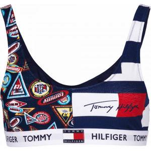 Tommy Hilfiger BRALETTE PRINT tmavě modrá S - Dámská podprsenka